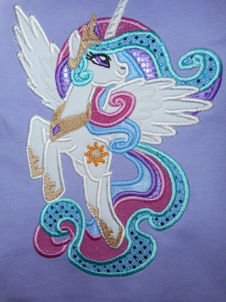 Princess Celestia My Little Pony Embroidery Design