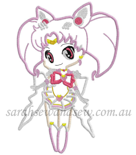 Sailor Chibi (Mini) Moon Embroidery Design (Sailor Moon Cutie) - Sarah Sew and Sew