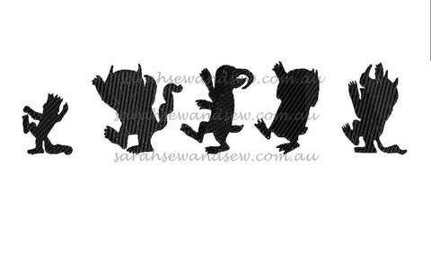 Let the Wild Rumpus Start Silhouette Embroidery Design