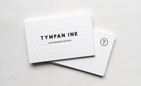 Tympan Ink Letterpress Business Card