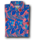 Super Stretch - Coral Palms Hawaiian Shirt