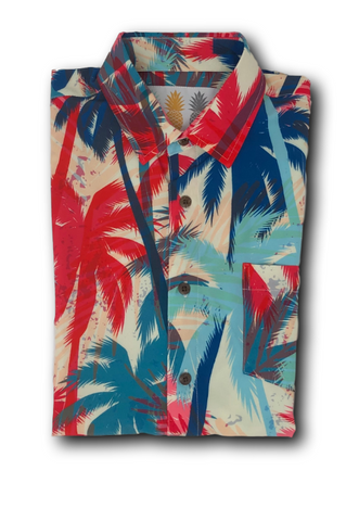 Super Stretch - Florida Palms Hawaiian Shirt