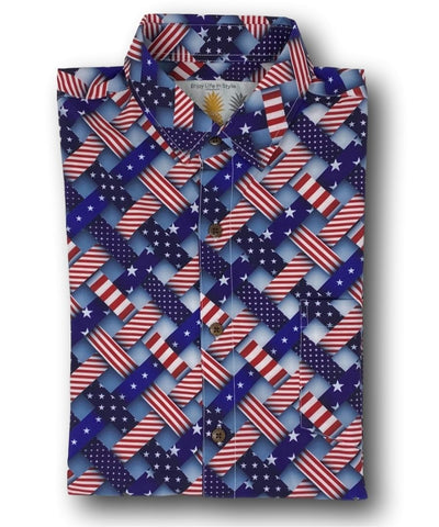 Super Stretch - Freedom Friday Hawaiian Shirt