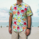 Super Stretch  ***NATTY SELTZER*** ALOHA BEACHES Hawaiian Shirt