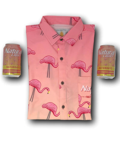 Super Stretch - ***NATURDAYS*** Party Time Hawaiian Shirt