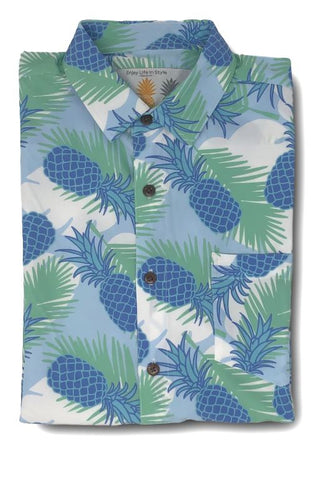 Super Stretch - Pineapple Cool Hawaiian Shirt