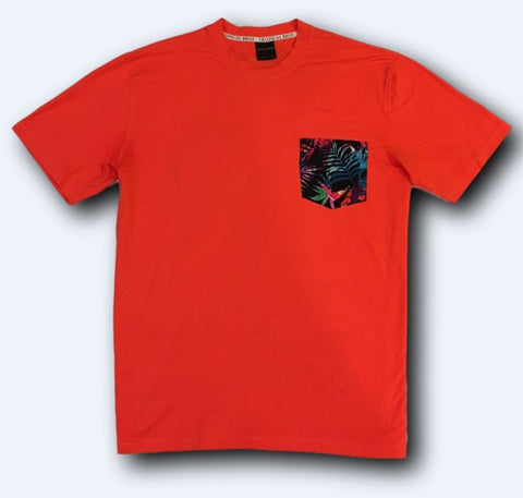 Sunset Fire Pocket Tee