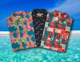 Super Stretch - Daddy Shark Hawaiian Shirt