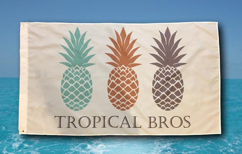 Tropical Bros Logo Flag