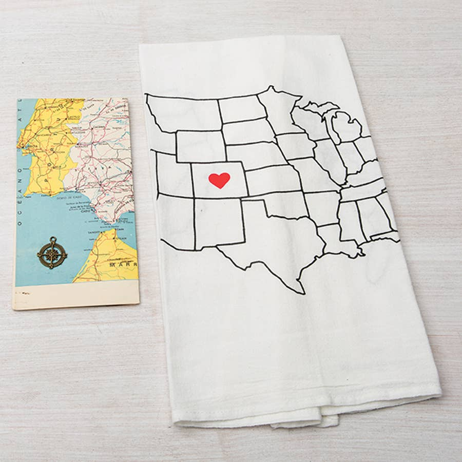 Tea Towel - Map