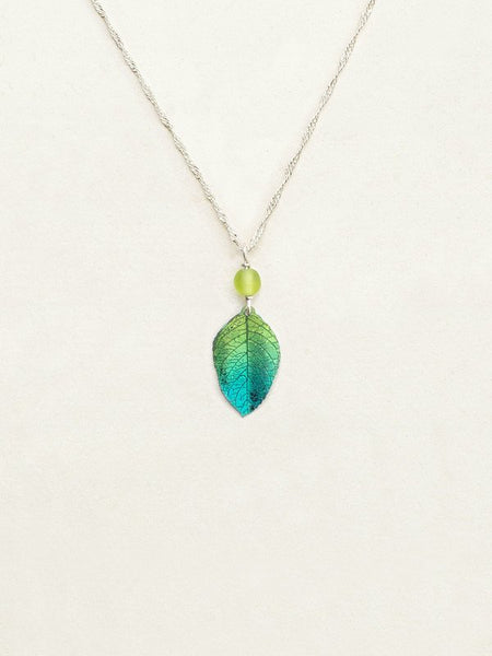 Healing Leaf Pendant Necklace