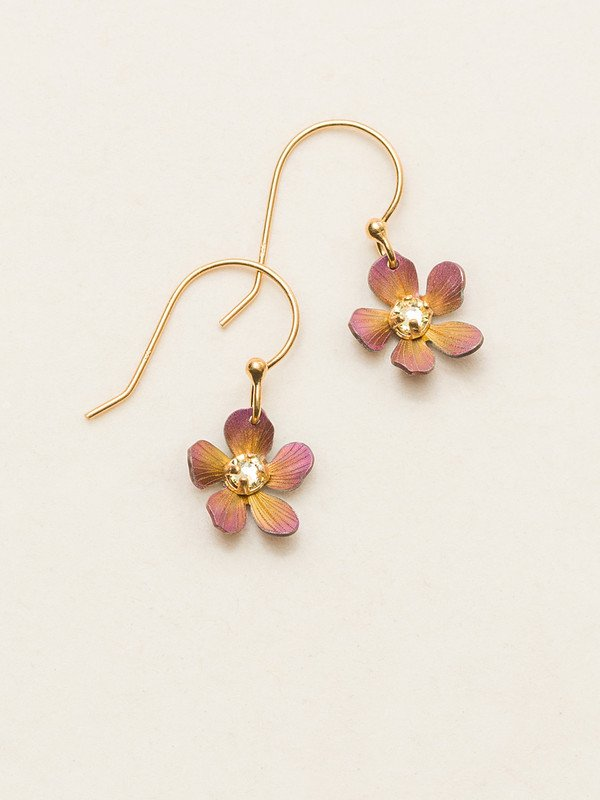 Petite Plumeria Drop Earrings