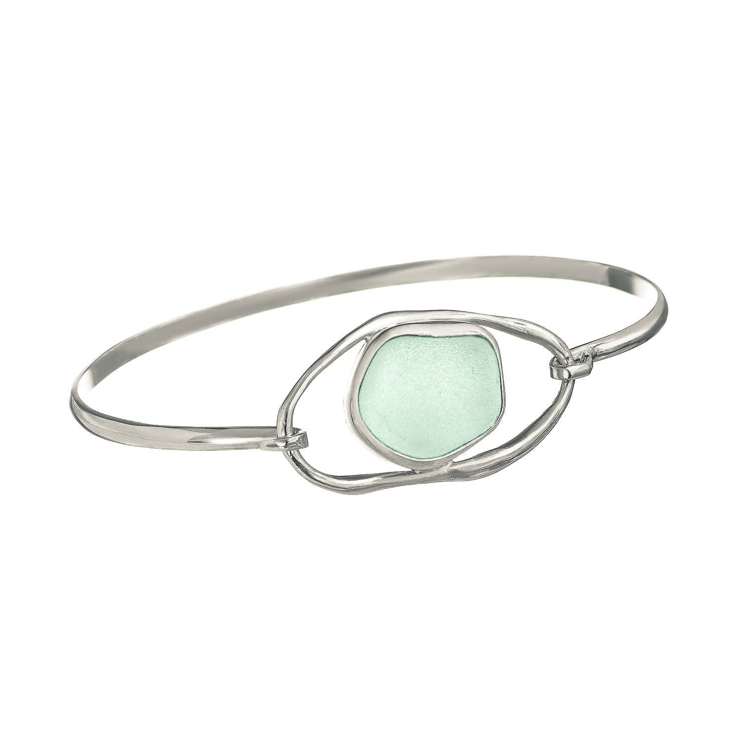 Sea Glass Lagoon Bangle Bracelet - Lagoon Series