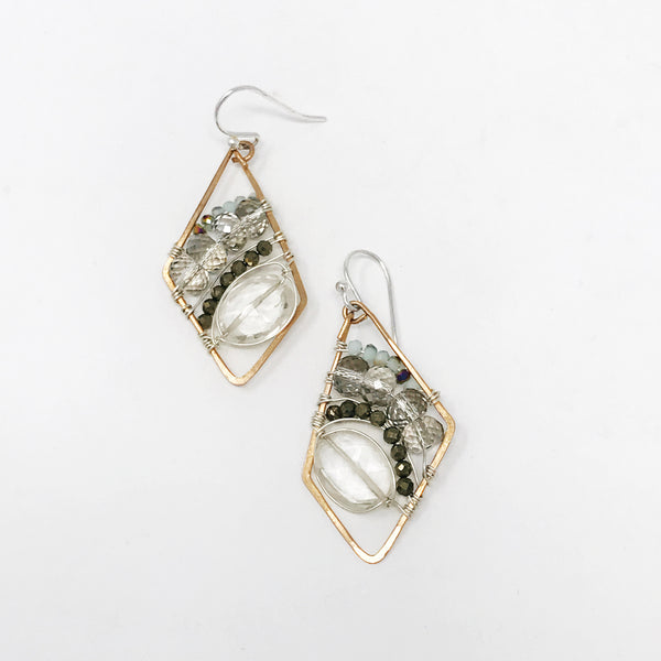 Quartz & Crystal Geo Earrings