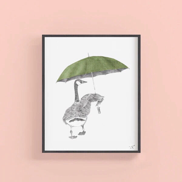George August Canada Goose Art Print