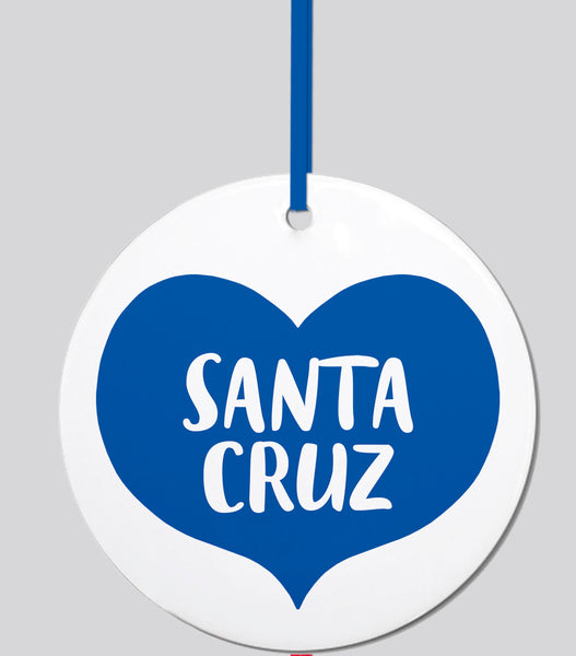 Santa Cruz Heart Ornament
