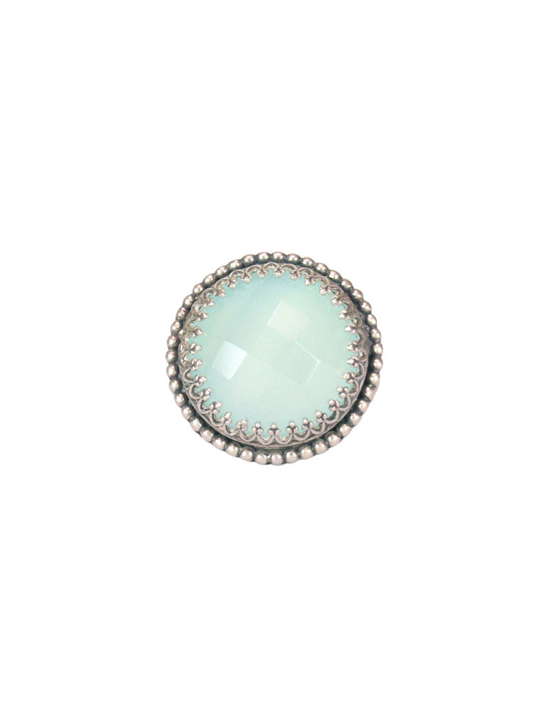 Aqua Chalcedony and Sterling Silver Ring