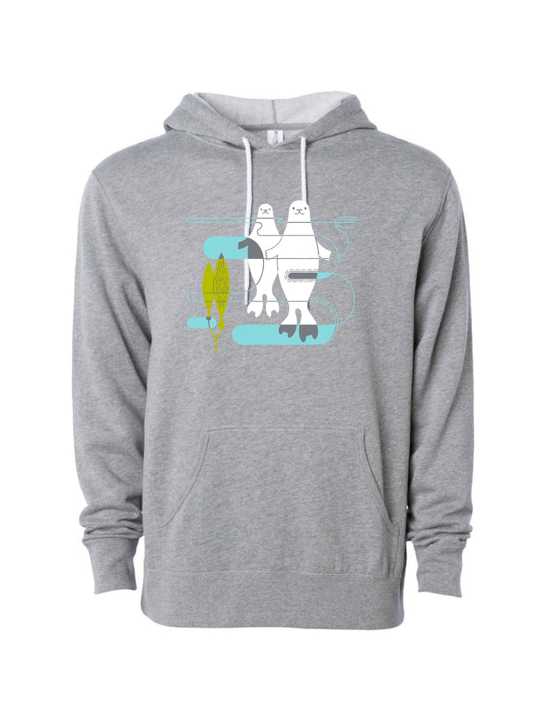 Harbor Seals Gray Hoody