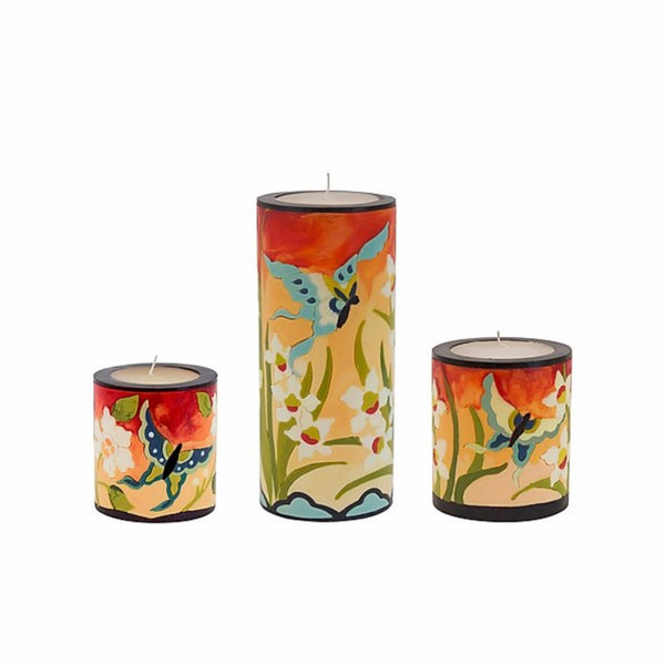 Orchid and Butterfly Candle