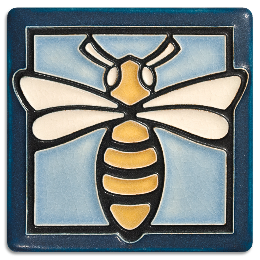 Bee 4x4 Light Blue Tile