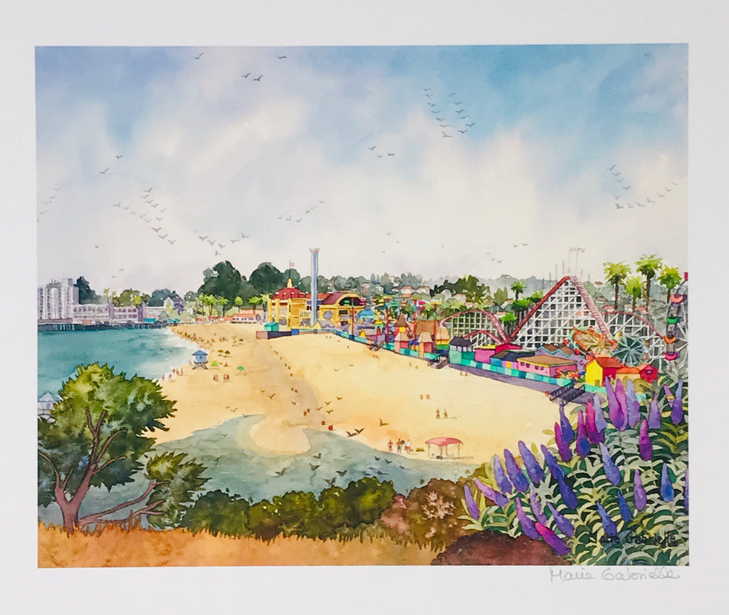 Santa Cruz Beach & Boardwalk Print