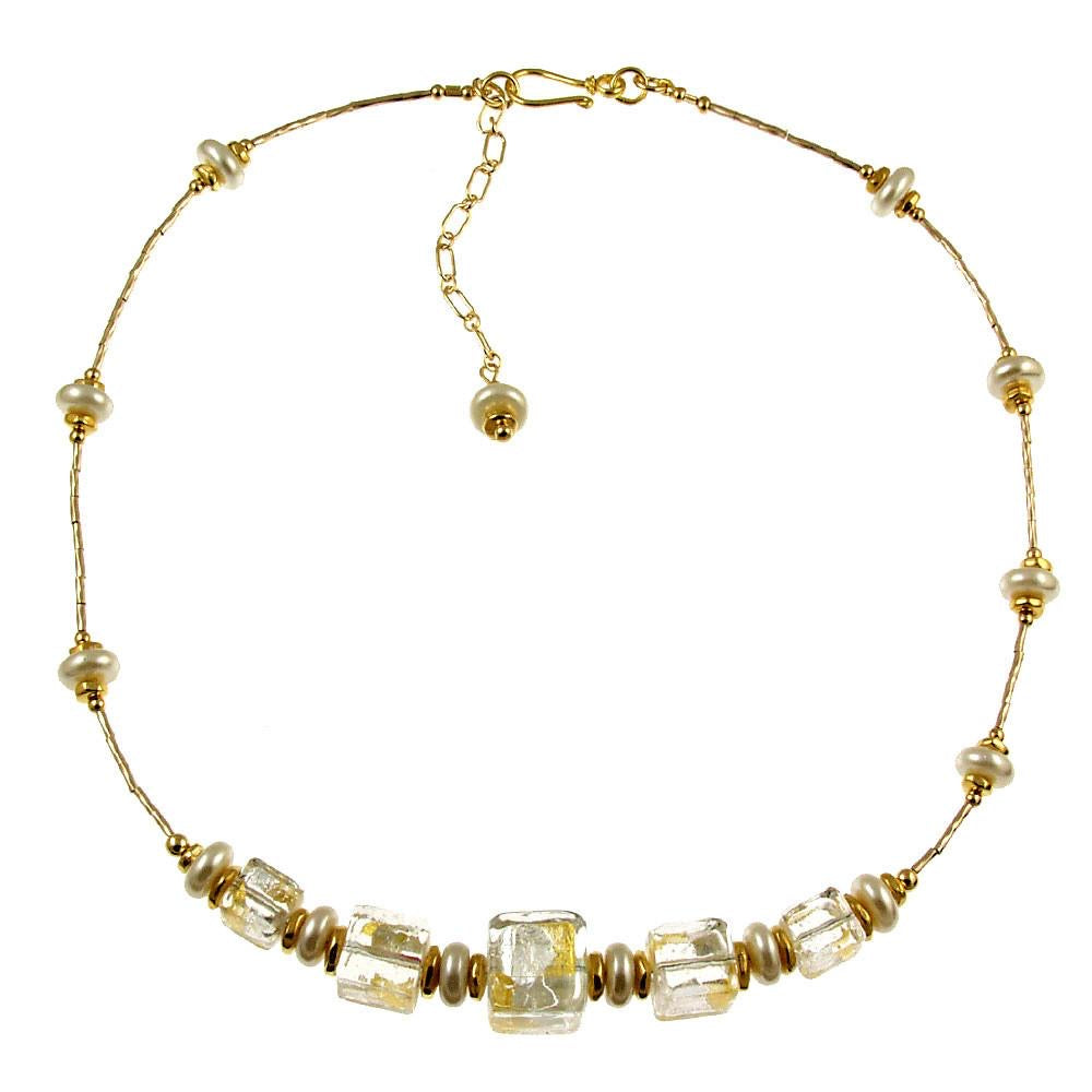 Venetian Glass Necklace Sheer Elegance