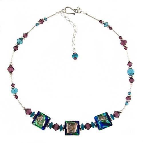 "Venetian Glass ""Mariposa"" Necklace"