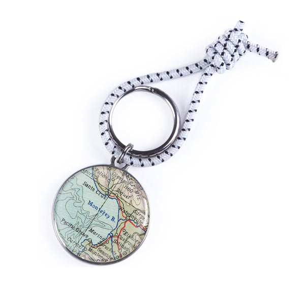 Santa Cruz & Monterey Bay Map Key Chain