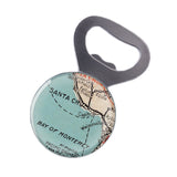 Santa Cruz & Monterey Bay Map Bottle Opener