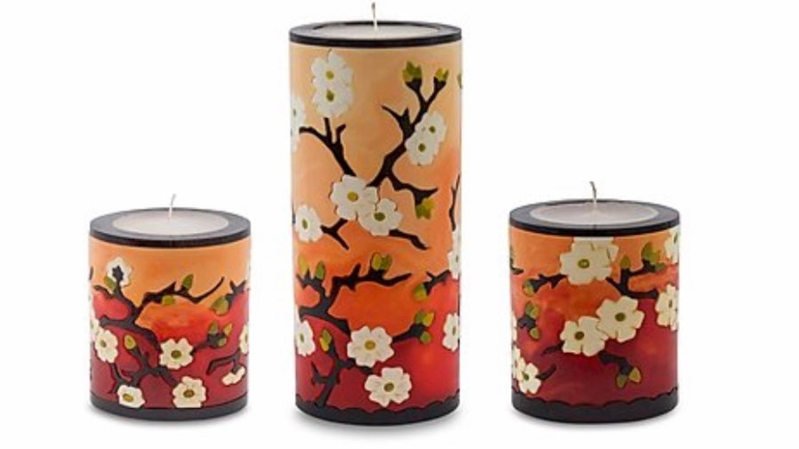 Plum Blossom Candles