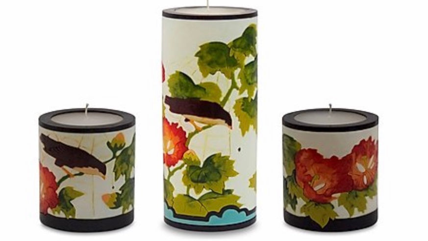 White Hibiscus Candles