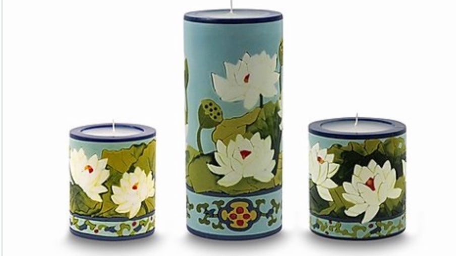 Lotus Blossom Candles