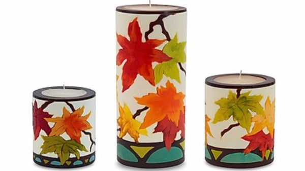Fall Leaves Candles