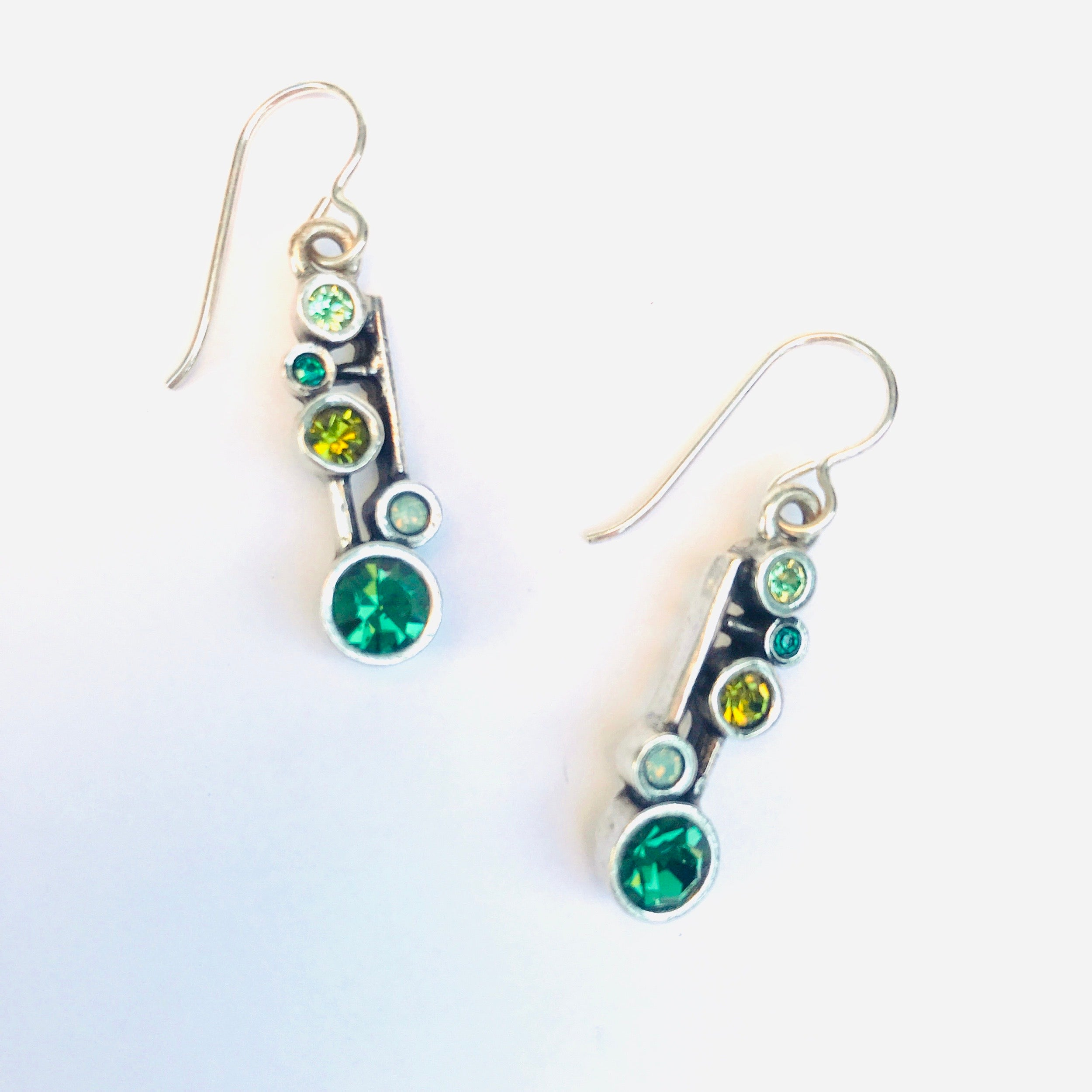 Dew Drops Earrings in Envy