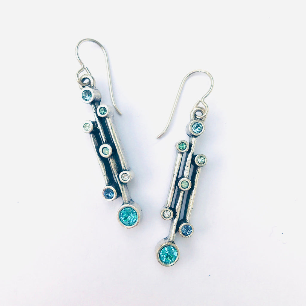 Dew Drops Earrings in Surf