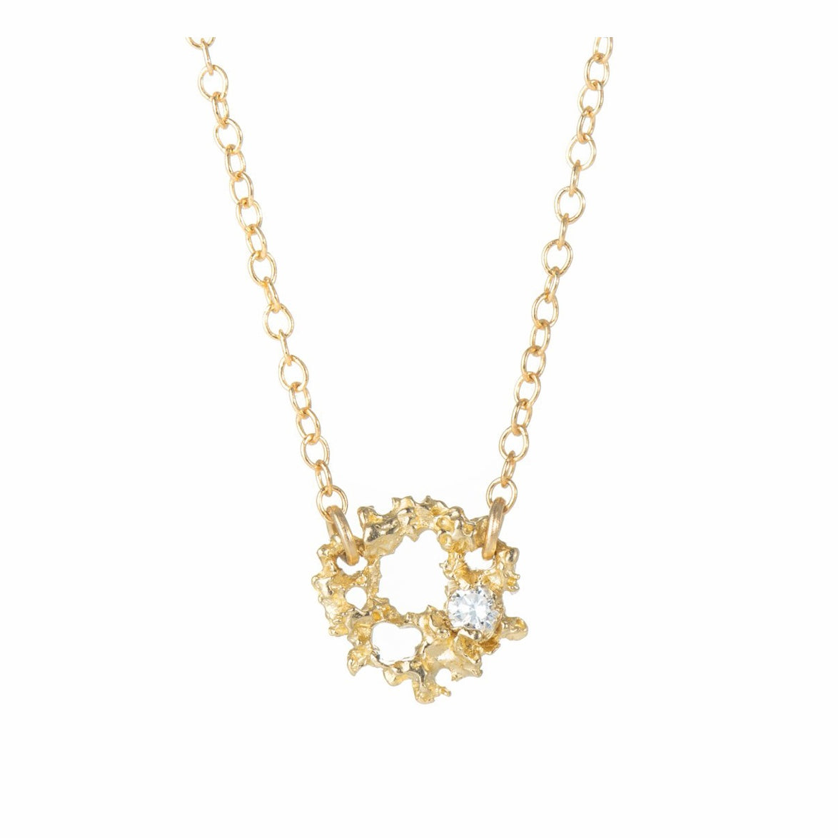Supernova 14K Yellow Gold Necklace