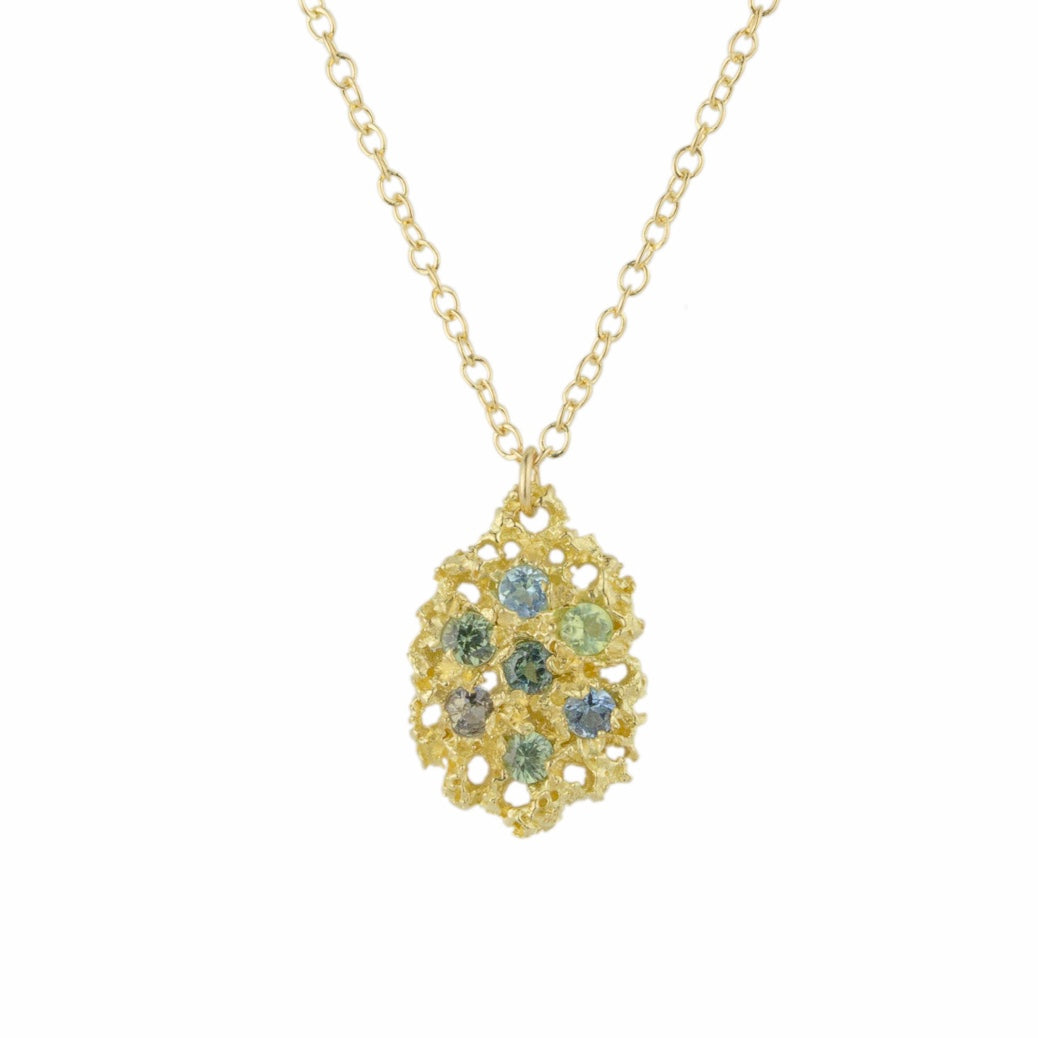 Lemon Drop 14K Yellow Gold Necklace - Green Mix