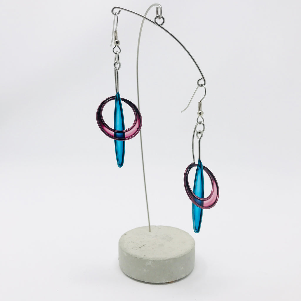 Sliver Circle Earrings