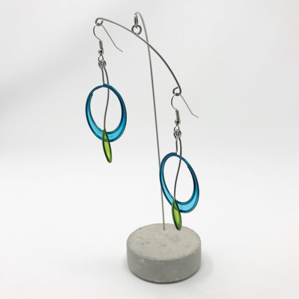 Circle With A Leaf Earrings