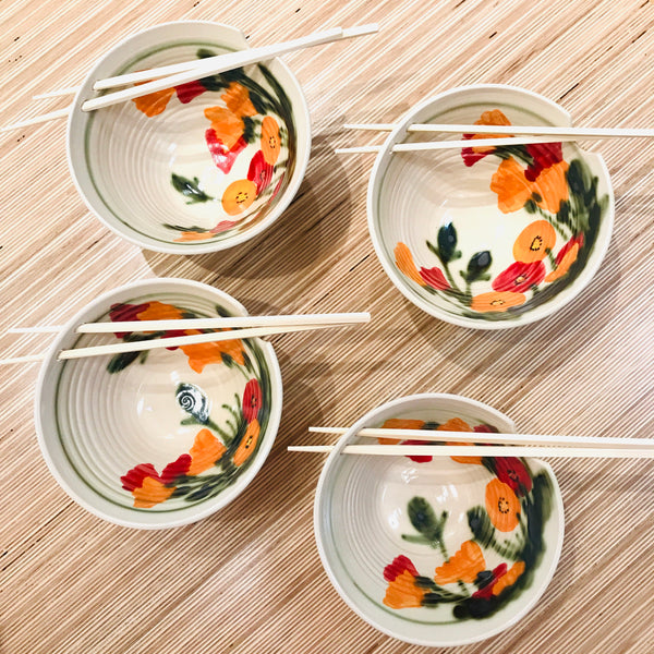 Poppy Chopsticks Bowl