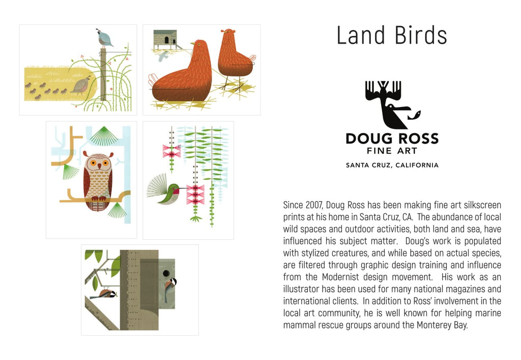 Land Birds Greeting Cards