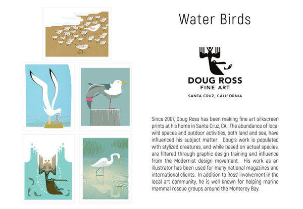 Water Birds Greeting Cards