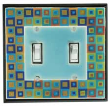 Art Glass Ceramic Light Switch Plates
