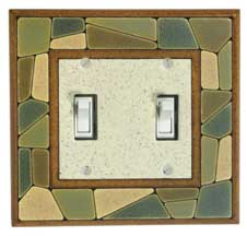 Mosaic Border Ceramic Light Switch Plates