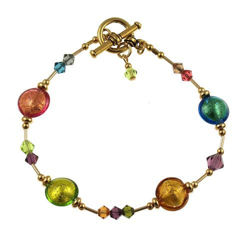 Venetian Glass Bracelet Autumn Colors