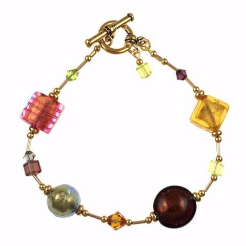 "Venetian Glass ""Autumn Splendor"" Bracelet"