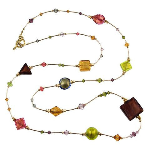 "Venetian Glass ""Autumn Splendor"" Necklace"