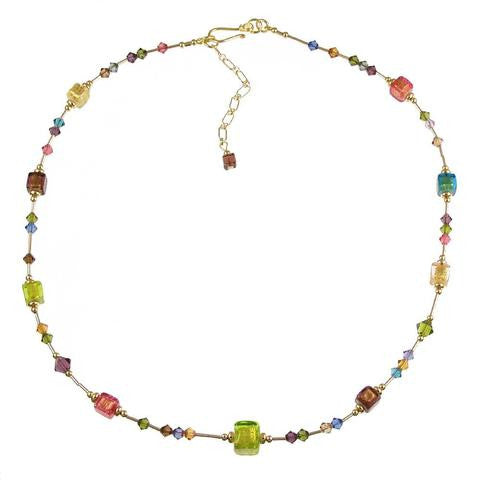 "Venetian Glass ""Baby Cubes"" Necklace"