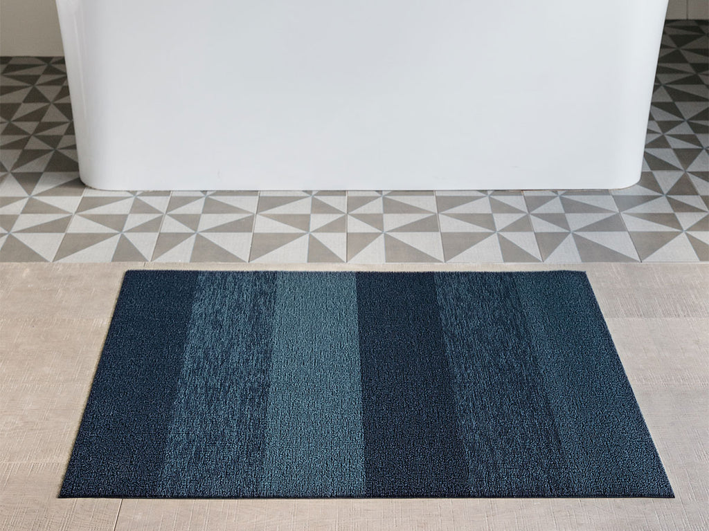 Marbled Bay Blue Shag Mat