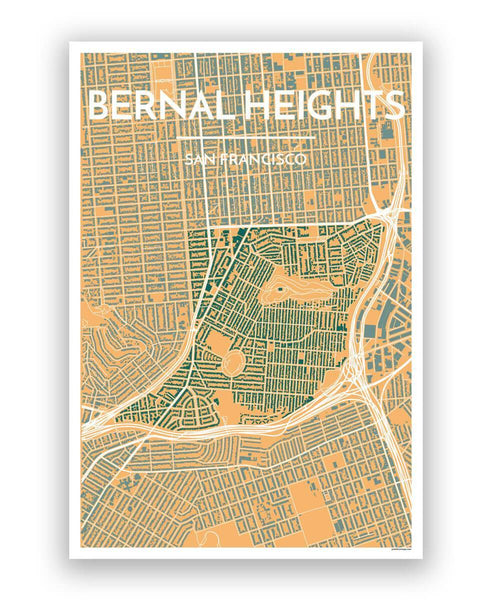 Bernal Heights SF Map